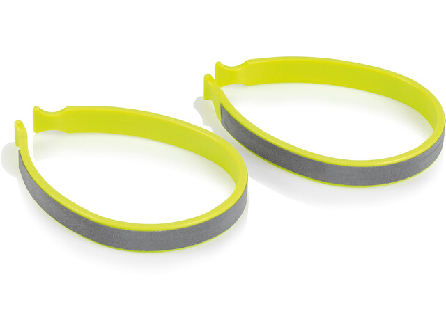 XLC CP-C01 Trouser Clip Set, amarillo/Plateado